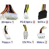 Moliies Fuente de alimentación HTPC de 180 W FSP180-50PLA pequeña 1U Flex Computer Fuente de...