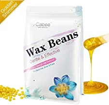 Hard Wax Beans for Waxing - Painless Wax Beads Depilatory for Wax Warmer Kit - Stripless Brazilian Bikini for Women and Men (1lb, Gold,Honey)