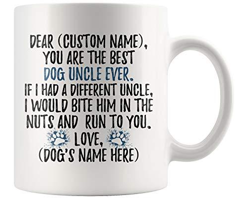 Personalized Dog Uncle Mug, Dog Uncle Present, Dog Uncle Coffee Mug, K9 Uncle, Uncle Dog Owner, Dog Uncle Mug (11 oz)