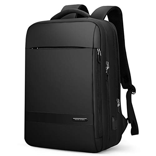 Business Laptop Backpack,with USB Charging Port Anti Theft High School Computer Backpack Bag,Water Resistant Student Daypack Fits 15.6 Inch Laptop