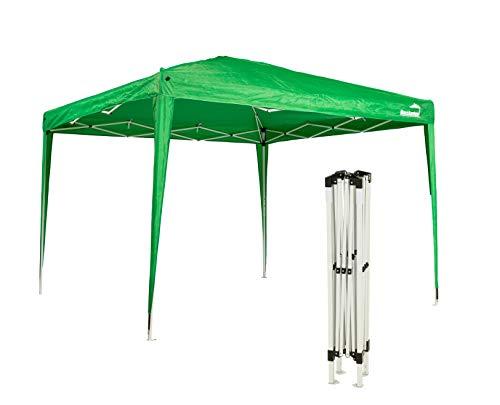 MaxxGarden Pavillon 3x3m - wasserdicht - Pop-Up - inkl. Tasche - UV-Schutz 50+ - Faltpavillon Gartenzelt Partyzelt - Farbauswahl (Grün)
