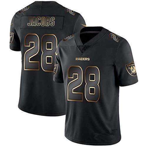 NBJBK T-Shirt NFL Rugbytrikot, Eagle Steel Man Cowboy Raiders Saints Schwarzgoldtrikot Trikot Fußballtrikot Kurzarm-Sportoberteil,a-28,L