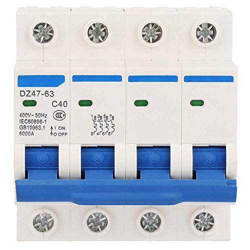 ZYL-YL 40A 400V Interruptor de circuito en miniatura, interruptor automático 4P Protección 50Hz Interruptor de fuga de la energía solar, sistemas pequeños de generación de energía
