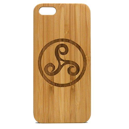Triskele Symbol Case for iPhone 6 Plus or iPhone 6S Plus | iMakeTheCase Eco-Friendly Bamboo Wood Cover | Celtic Knot Irish Wolf Tattoo