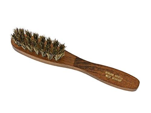 Brosse à barbe / peigne à barbe / brosse à barbe 11,5 cm en poils de sanglier pour un entretien quotidien idéal de la barbe / soin de la moustache de l'homme