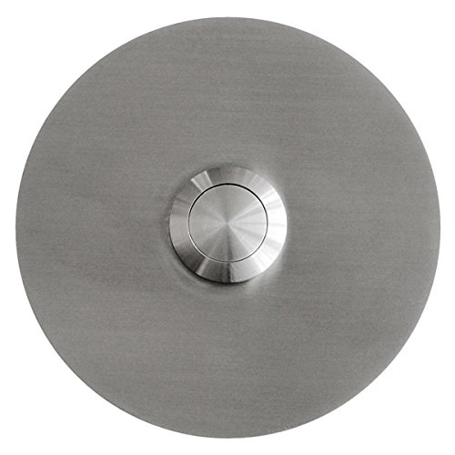 MOCAVI RING 120 Edelstahl-Design-Klingel V2A rund (8 cm), Klingeltaster