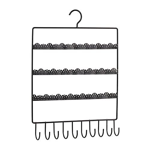 Organizador de joyas con agujeros y ganchos para colgar pendientes de pared para niñas