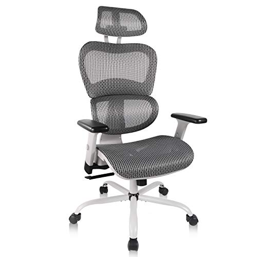 Home Office Chair Mesh Ergonomic Computer Chair with 3D Adjustable Armrests Desk Chair High Back...