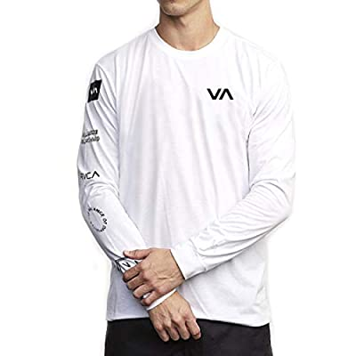 RVCA Sport All Out Rvca Long Sleeve Top White Small by RVCA