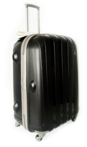 Luggage X - 66 cm (26') Hard Sided Black Polypropylene Lightweight Trolley Suitcase