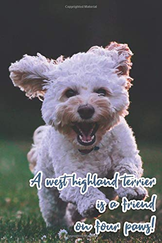 A west highland terrier is a friend on four paws!: Notebook for dog fans - the perfect journal with bullet pages