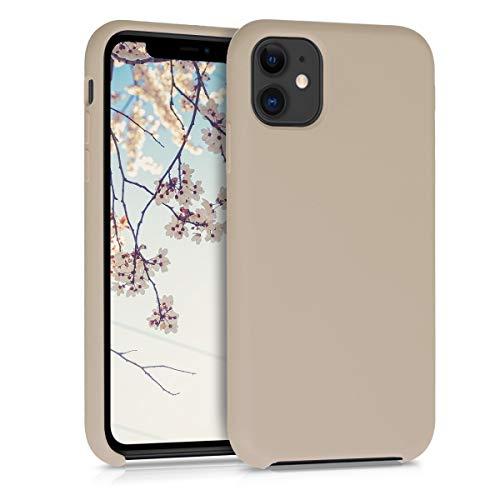 kwmobile Hülle kompatibel mit Apple iPhone 11 - Handyhülle gummiert - Handy Hülle in Perlmutt