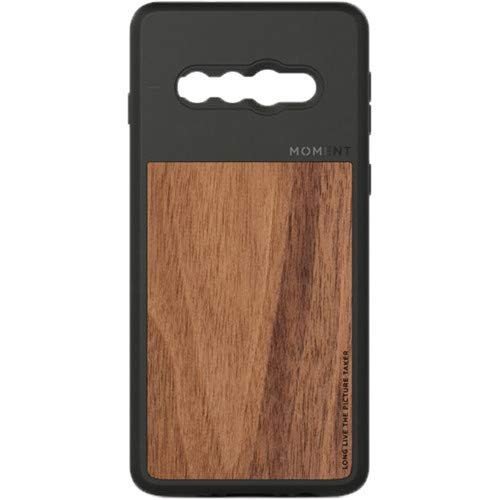 Moment Protective Galaxy S10 Case - Durable Wrist Strap Friendly Case for Photography and Camera Lovers (Walnut Wood)