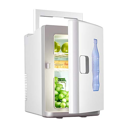 Frigo RéFrigéRateur Congelateur Glaciere 10L mini petit réfrigérateur micro-réfrigérateur 12V voiture chauffer et refroidir la boîte semi-conducteur d'essai de voiture à double usage ( Color : White )