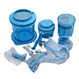 Tupperware Chef-Sache Set (3) Turbo Chef + Multi Chef + Extra Chef D200/D158/D169 Combinación azul claro