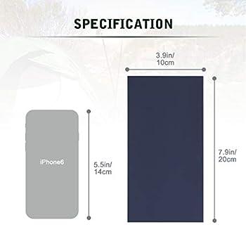 AIEVE Ruban de réparation de Tente, 10Pcs Patchs de réparation de Tente en Nylon Ruban étanche Tenacious Flex Patch Patches Autocollant pour tentes de Camping, Sacs à Dos, auvents, Bleu