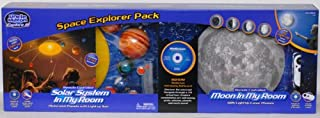 Uncle Milton Space Explorer Pack: Remote Controlled Solar System In My Room, Remote Controlled Moon In My Room and a BONUS Stellarium Astronomy Software