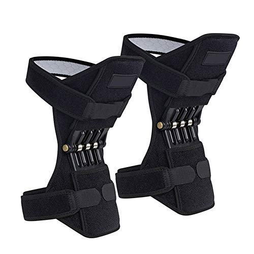Kniebandage Atmungsaktive rutschfeste Leistungsstarke Rebound Spring Knie Booster Bergsteigen Squat Wandern Sport Brace Unterstützung Knieschützer (1 Paar) Knee Active Plus (Color : 2 Pc)