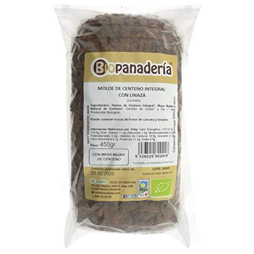 Biopanadería Pan de Molde de Centeno Integral con Semillas de Linaza Ecológico Elaborado con Masa Madre Natural