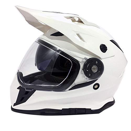 Viper RX-v288 - Casco de doble visera, color blanco