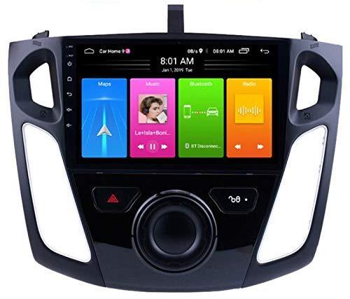 Coche Estéreo Radio Android 10 con Pantalla táctil de 9 Pulgadas Ajuste para Ford Focus 2012-2017 Coche GPS Soporte de navegación Control de Volante