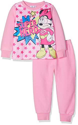 Disney Minnie Super Hero Conjuntos de Pijama, Rosa (Rosa 15-2215 TC), 6 años para Niñas