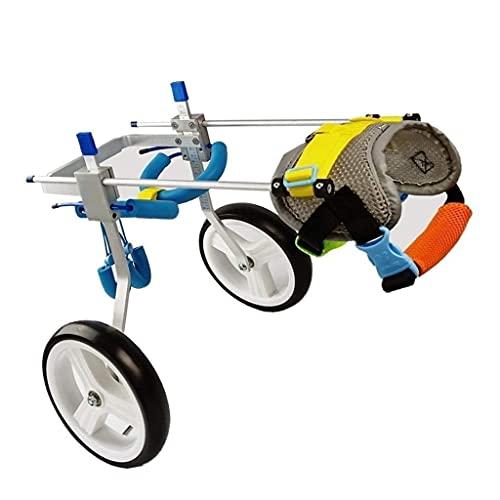 Silla de ruedas para perros para patas traseras, chaleco para perros, arneses para rehabilitación de patas traseras, ruedas para caminar, ayuda para perros medianos pequeños, perros de 10-20 k