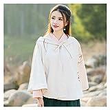 Chino Hanfu - Abrigo para mujer, diseño de dinastía Han/Tang, chino, traje de mujer antigua, ropa de danza folclórica (color, tamaño: talla única)