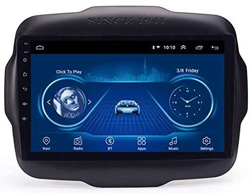 Android 10 Coche Estéreo GPS Radio de navegación para Jeep Renegade 2016 2017 2018 con 9'Pantalla Pantalla Auto Play Soporte Completo RCA Salida