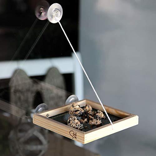 CJ Wildlife Vogelfutter-Spender Bird Swing Vide | NABU empfohlen | Futterstation zum aufhängen an der Fensterscheibe | inklusive 2,5 kg Wildvogelfutter