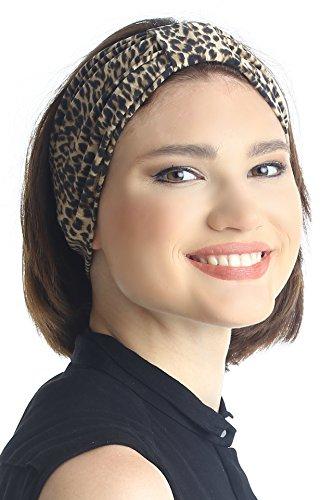 Deresina Headwear Gedruckt Stirnband für Damen (Leopard)