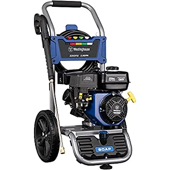 Westinghouse Outdoor Power Equipment WPX3200 Gas Powered Pressure Washer CARB Compliant 3200 PSI and 2.5 GPM Soap Tank and Five Nozzle Set