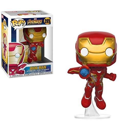 LRWTY Juguetes Vengadores!Iron Man (versión Bracket) La Figura de acción de la película de la Obra Maestra de la Figura Coleccionable Vengadores Final de Partida Exquisito 10CM Embalaje Figure