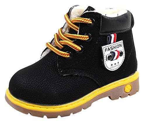 Lukis Chaussure Épais Doublée Velours Chaud Enfant Bébé Bottes De Neige Chaussure De Coton Cuir Artificiel Peu Salissant Étanche Boots Martin