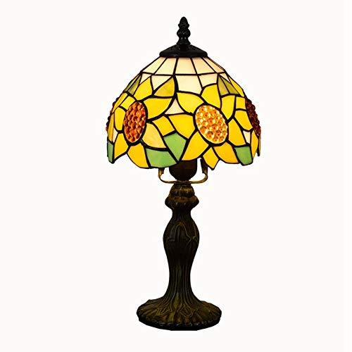 Tiffany Lampe Klassische gelbe Sonnenblume Tischlampe Esszimmer Schlafzimmer Nachttisch kleine Tischlampe Tiffany Glasmalerei Schreibtischlampe