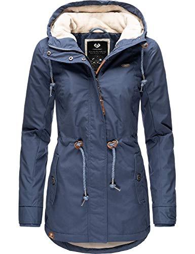 Ragwear Damen Winterparka Kurzmantel Monadis Black Label Blue20 Gr. S
