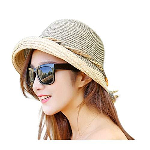 Cosanter Strohhut Sonnenschutz für Damen, Cooler und modischer Sonnenhut für den Sommer am Strand