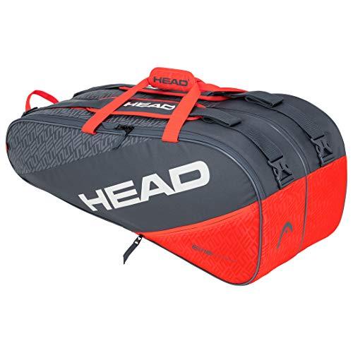 HEAD Elite 9R Supercombi, Borsa per Racchetta Unisex Adulto, Grigio/Arancia