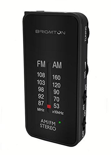 Brigmton BT-224 Portátil Analógica Negro - Radio (Portátil, Analógica, Am,FM, 87-108 MHz, 522-1620 kHz, 50 dB)