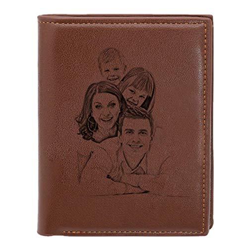 Geldbörse Herren Leder Geldbeutel Männer Klein mit Münzfach Reißverschluss Kleine Portemonnaie Herren Brieftascher