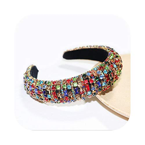 Diademas trenzadas para mujer, con brillantes de cristal a mano, 35 colores