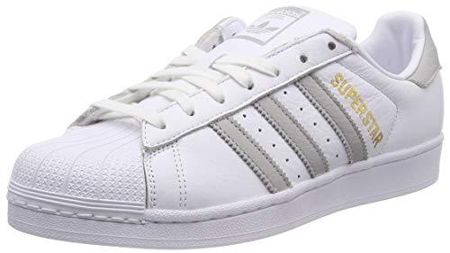 adidas Superstar W, Scarpe da Ginnastica Donna, Bianco (Ftwr White/Grey Two F17/Ftwr White), 37 1/3 EU