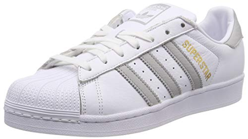 adidas Superstar W, Scarpe da Ginnastica Donna, Bianco (Ftwr White/Grey Two F17/Ftwr White), 37 1/3 EU