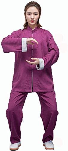 HLZY Uniformes Tradicionales Chinos de Tai Chi Kung Fu Tai Chi Uniform Ropa ala Chun Shaolin Kung Fu Taekwondo Entrenamiento Paños Ropa de Vestir (Color : C, Size : XXXL)
