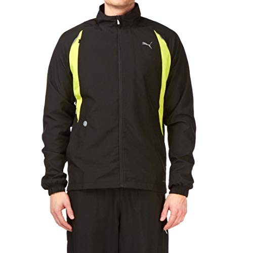 Puma Mens Full-Zip Complete Running Warmup Jacket Black