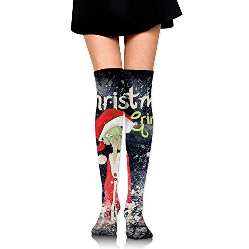 Calcetines altos hasta el muslo, diseño de caballo, hasta la rodilla, calcetines altos para las mujeres