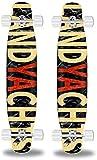 Monopatín Longboard Cruiser Completo Skateboard 44' completa Deck Longboard monopatín del crucero de arce trucos de estilo libre combado doble Patín calle cepillo crucero for principiantes Niñas Niños
