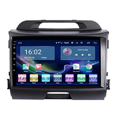 Navigazione GPS Autoradio per Kia SPORTAGE R 2010-2016, Schermo tattile 2.5D Android 10.0 Autoradio Stereo Supporta Il Controllo del Volante BT Mirror-Link 4G WiFi