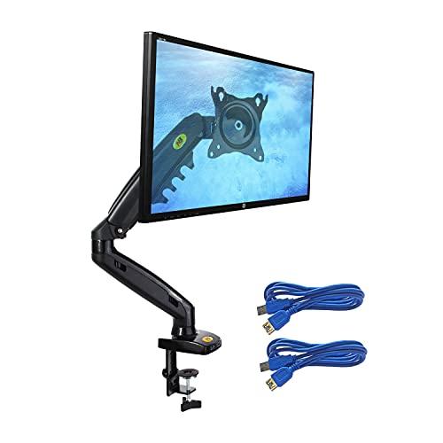 Ergosolid NB F80 Schwarz - Full Motion Tischhalterung für Monitore 17
