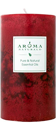 Aroma Naturals Holiday Essential Oil Scented Pillar Candle, Orange, Clove and Cinnamon, Warm Spice, 2.75 inch x 5 inch